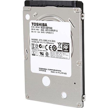 HD para notebook 500gb Toshiba sn