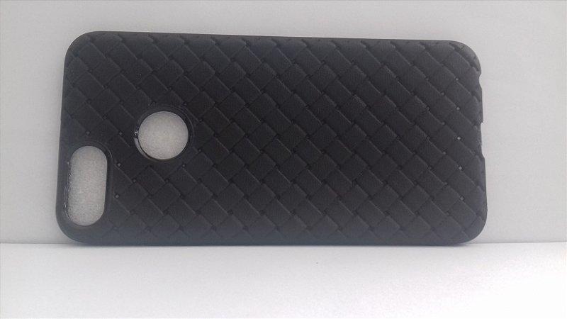 CAPA Xiaomi MI A1 Tela 5.5 Preta com textura