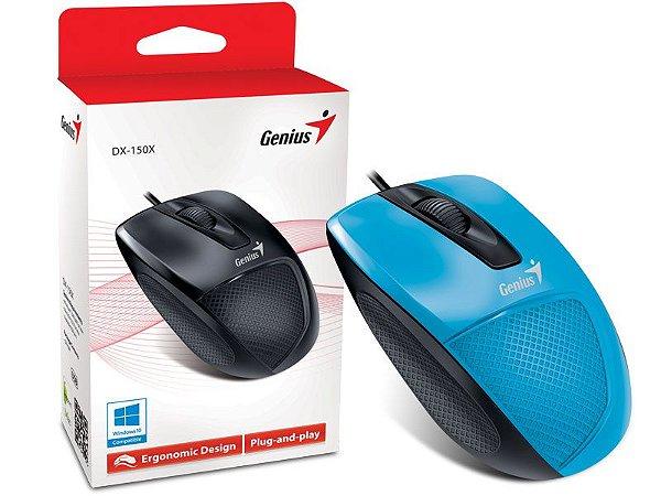 Mouse Genius DX-150X Ergonomico Usb Azul