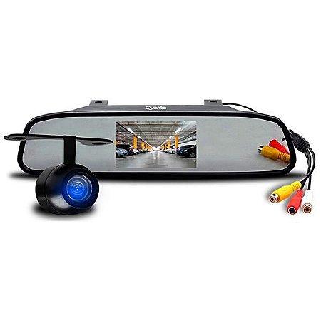 """Câmera de Re Automotiva Quanta QTCRD500 com Tela 4.3""""  Preta"""