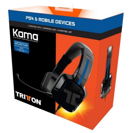 Headset PS4 Tritton Kama com Fio - Preto