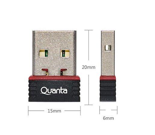 Adaptador Wi-fi Quanta Qta851 150mbps Usb - Preto