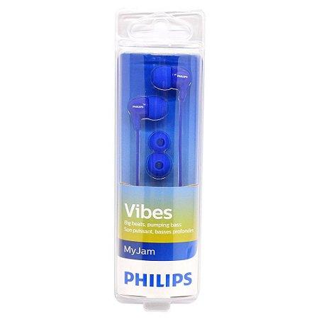 Fone de Ouvido Intraauricular Philips SHE3550BL/27 Azul