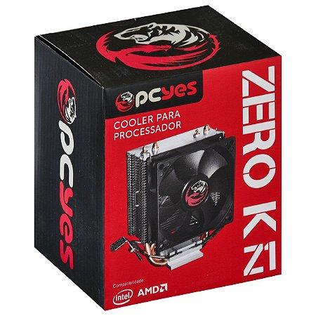 Cooler Processador Zero KZ1 80mm  ACZK180 Preto