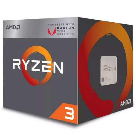 Processador AMD Ryzen R3 2200G AM4 3.7ghz 4mb+2mb c/vídeo