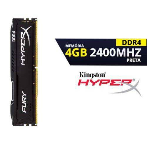 Memória Kingston HyperX 4GB DDR4 2400Mhz HX424C15FB/4