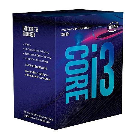 Processador Intel Core I3-8100 S1151 3.6Ghz 6MB Box