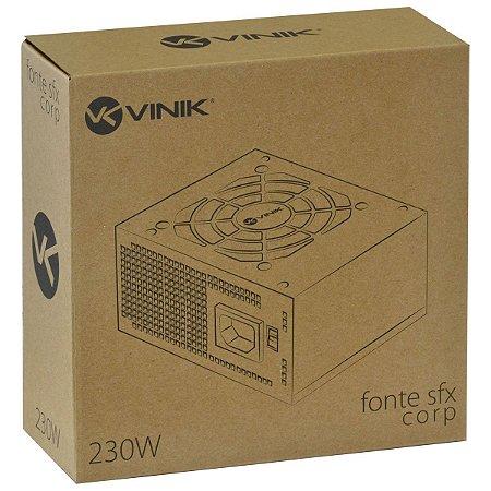 Fonte Sfx 230w Bivolt Corp - Vfs230 - Vinik