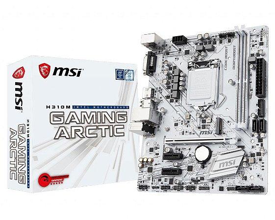 Placa Mãe MSI Intel H310M Gaming Artic Socket 1151