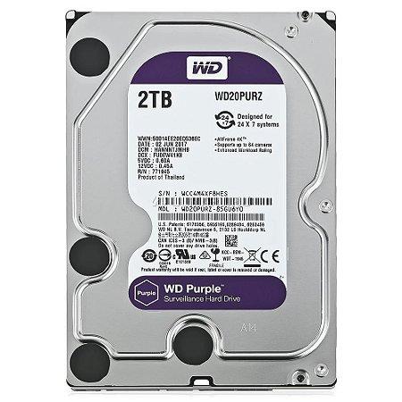Hd 2tb Purple Western Digital Wd20puz Original