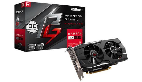 Placa Vídeo Asrock Phantom Gaming X Radeon RX580 8G DDR5 OC