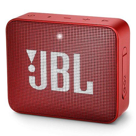 Caixa de som Bluetooth JBL GO 2 Vermelha Original