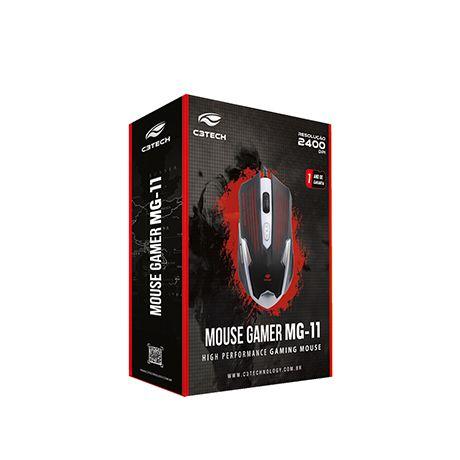 Mouse Gamer C3Tech MG-11 BSI Preto/Prata