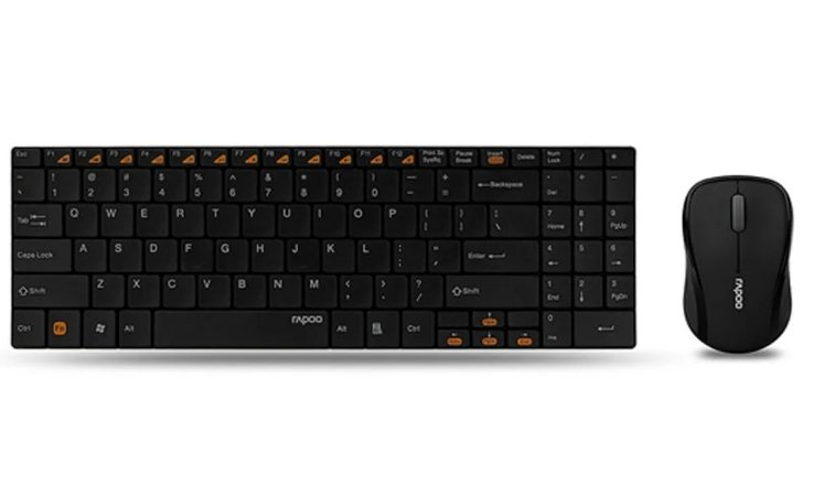 Kit teclado e Mouse sem fio Rapoo 9060 Black