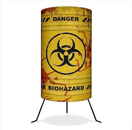 Luminária de Mesa Barril Biohazard - Risco biológico