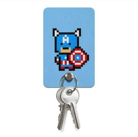 Porta Chaves Ecologico Pixel Capitão América