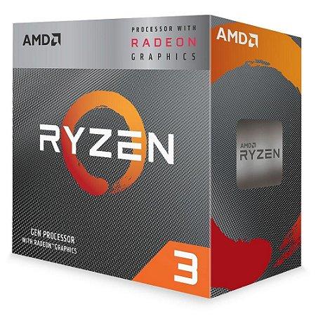 Processador AMD Ryzen R3-3200G 4.0GHz/6MB/3.6GHz Com Cooler