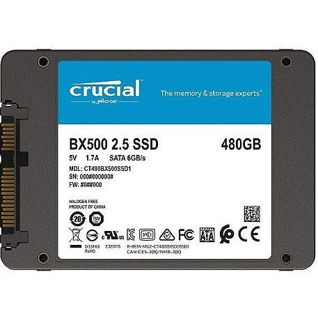 "HD SSD 480gb Crucial 2.5"" BX500 CT480BX500SSD1"