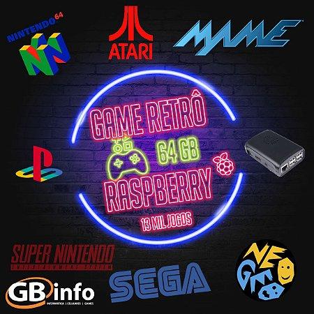 Vídeo Game Retrô Raspberry Pi3 Com Recalbox 64gb