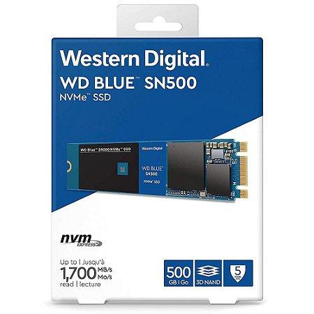 Hd Ssd WD Western 500gb Blue M.2 nvme (WDS500G1B0C)