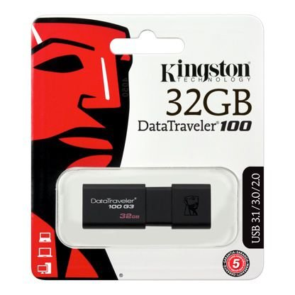 Pendrive De 32b Kingston Datatraveler 100 Dt100g3 Preto