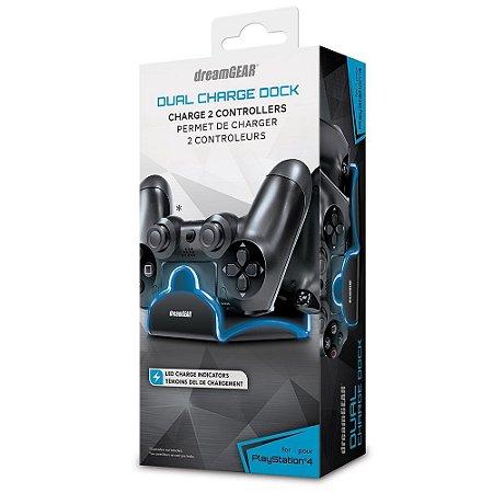 Carregador Bateria Duplo Dreamgear PS4 Com 2 Baterias DGPS4-6402