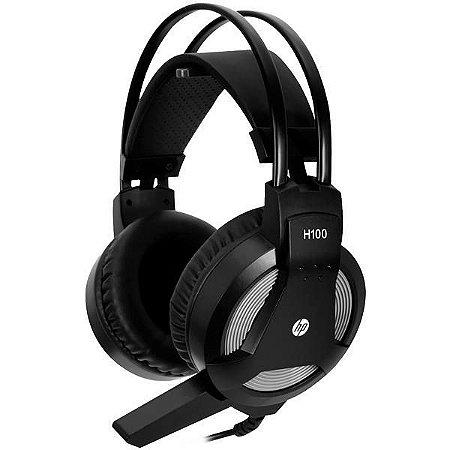 Headset Gamer HP H100 PS2 TRS Com Fio - Preto