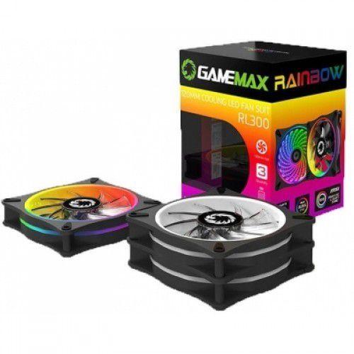 Kit Cooler Gamemax RL300 3 Fan RGB 21Leds Controle Remoto
