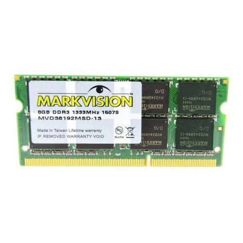 Memória para notebook 8gb DDR3 1333mhz Markvision MVD38192MSD-13