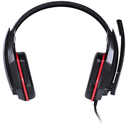Headset Gamer Vx Gaming Ogma com microfone Preto E Vermelho
