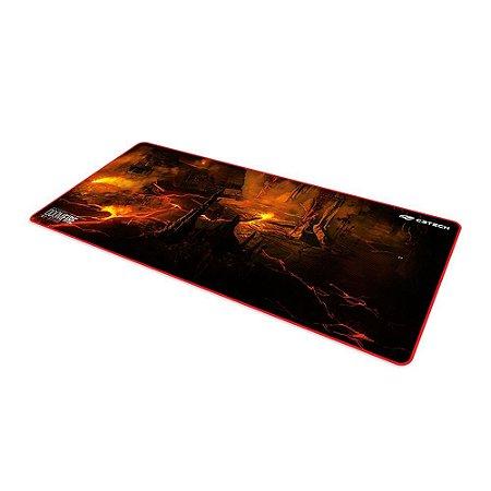 Mousepad Gamer C3 Tech Doom Fire MP-G1100 700x300mm Preto