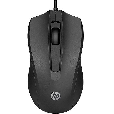 Mouse Optico USB - HP 100 Preto