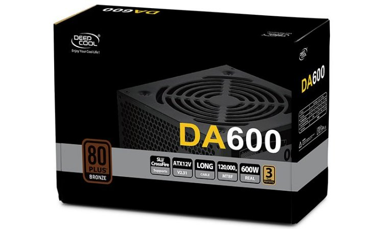 Fonte ATX 600W 80 Plus Bronze Deepcoll DA600 - DP-BZ-DA600N