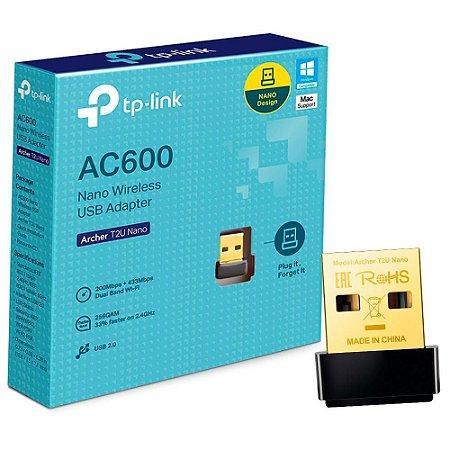 Adaptador wi-fi Usb Tp-link Archer T2U Nano AC600 - 5Ghz