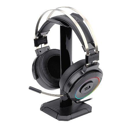 Headset Gamer Redragon Lamia 2 + Suporte H320-RGB Preto
