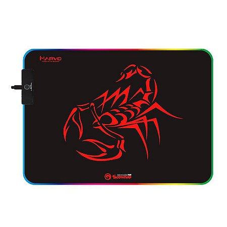 Mousepad Gamer Marvo Scorpion MG08 RGB 350X250X4MM