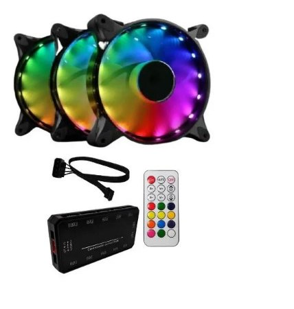 Cooler para Gabinete Satellite (12x12) 17C RGB com 3 Peças