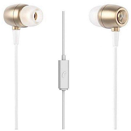Fone de Ouvido Motorola Earbuds SH009 Com microfone - Dourado