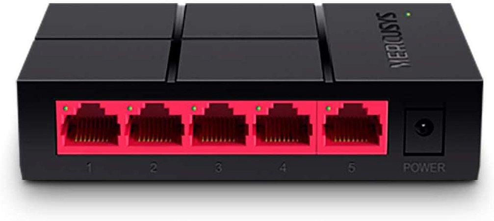 Hub Switch 5 portas 10/100/1000mbps - Mercusys MS105G