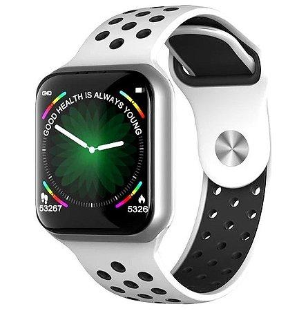 Relógio Smartwatch F8 - Prata e Branco