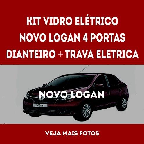 Kit Vidro Eletrico Novo Logan Dianteiro + Trava Eletrica 4pt