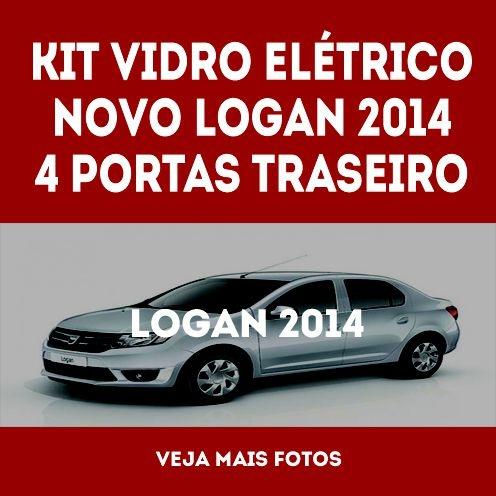 Kit Vidro Eletrico Novo Logan 2014 Traseiro