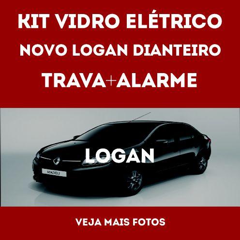 Kit Vidro Eletrico Novo Logan + Trava + Alarme Fx
