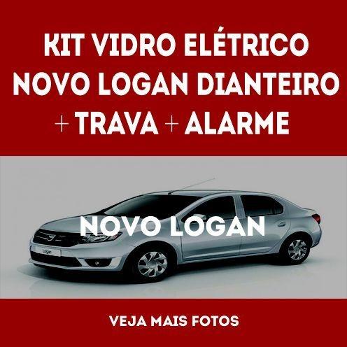 Kit Vidro Eletrico Novo Logan Dianteiro+trava+alarme