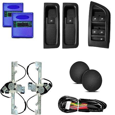 Kit Vidro Eletrico Onix 4 Portas Acabamento Original Traseiro