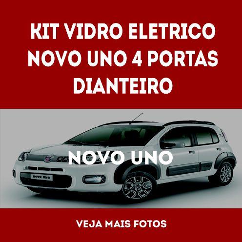 Kit Vidro Eletrico Novo Uno 4 Portas Dianteiro