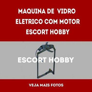 Maquina De Vidro Eletrico Com Motor Escort Hobby lado esquerdo