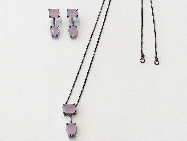 Conjunto Cristal Rosa