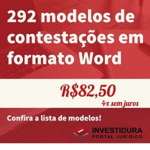 292 modelos de contestações em formato Microsoft Word