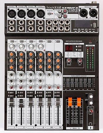 Mesa de Som Soundcraft Canais SX802FX-USB